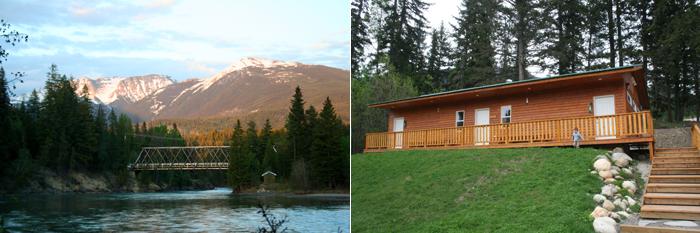 TheInspiredHome.org // Showers & Riverview at Tete Jaune Lodge, Tete Jaune Cache, BC #explorebc