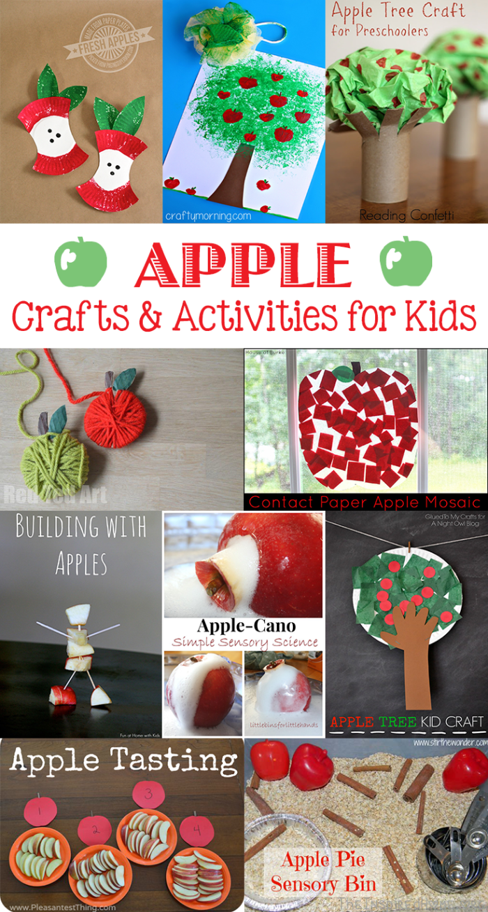 autumn apple craft ideas for kids roundup the inspired home