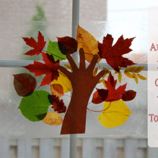 Autumn Leaf Craft with Toddlers