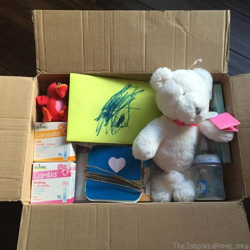 DIY Baby Shower in a Box open