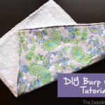 TheInspiredHome.org // DIY Burp Cloth Tutorial. This large burp cloth makes any awesome gift for any new mom and is the perfect beginner project.