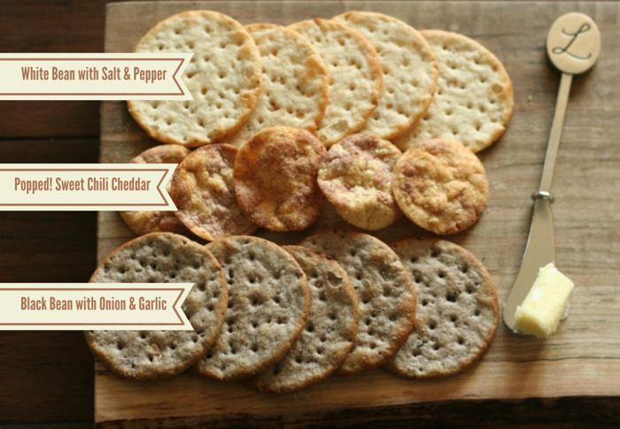 Breton Bean Crackers and Popped! Beans