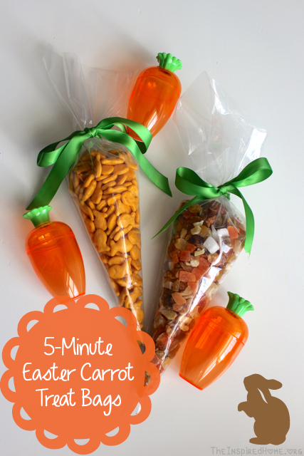 Make a no candy easter carrot treat bag in 5 minutes the inspired theinspiredhome no candy easter carrot treat bags that you can make in negle Images