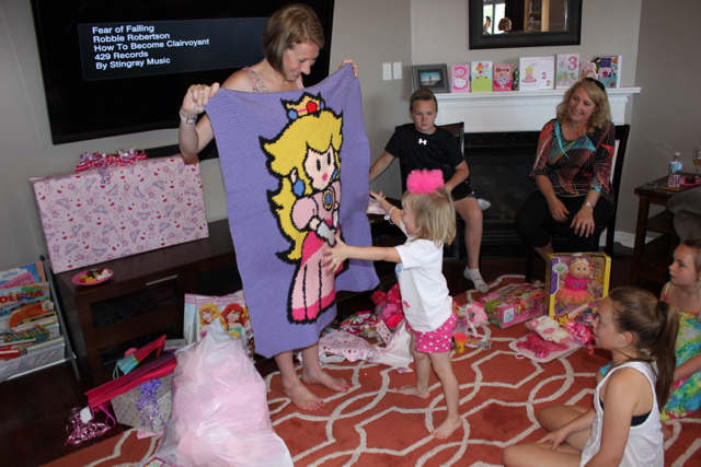 Princess Peach Crochet Blanket