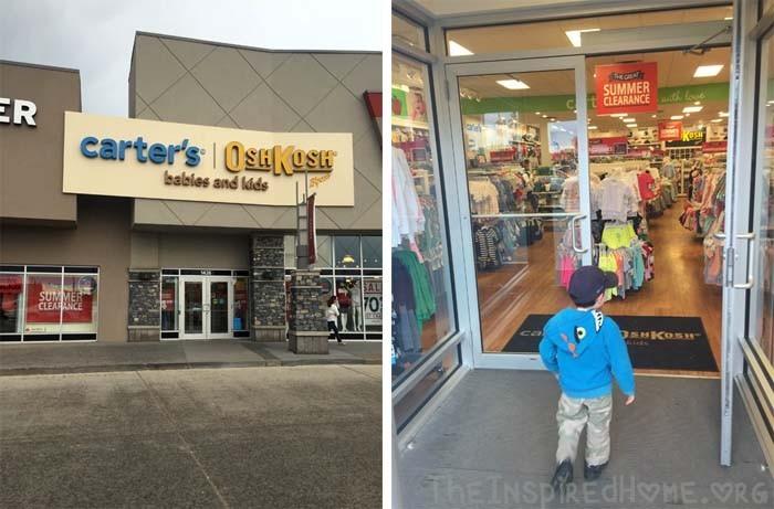 Going Shopping at Carters OshKosh BGosh