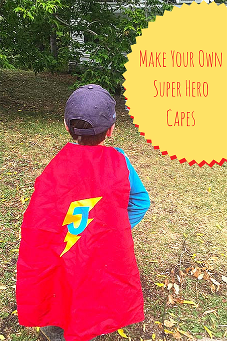 TheInspriedHome.org // Make Your Own Reversible Super Hero Cape. Faster than a speeding bullet, you can whip together this quick sewing project to delight the small person in your life. Be warned, hours of imaginative fun will follow!