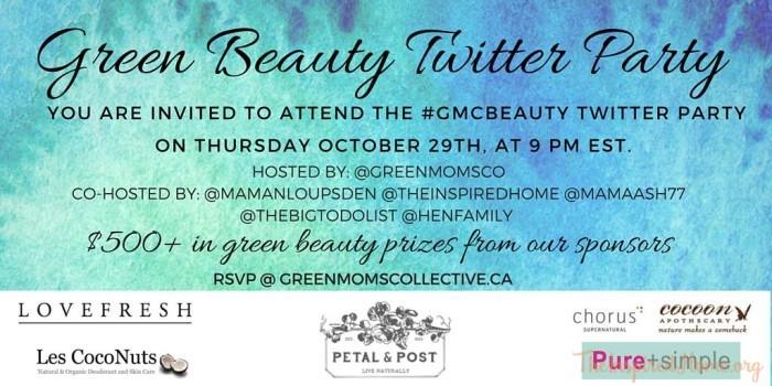 Green Beauty Twitter Party
