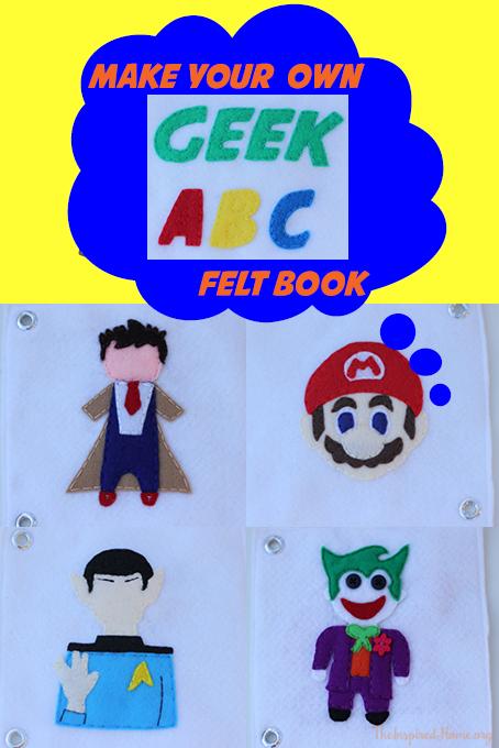 TheInspiredHome.org // Make your own DIY geek ABC felt quiet book