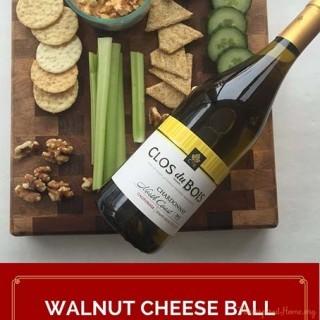 Walnut Cheese Ball + An Inspired Wine Pairing