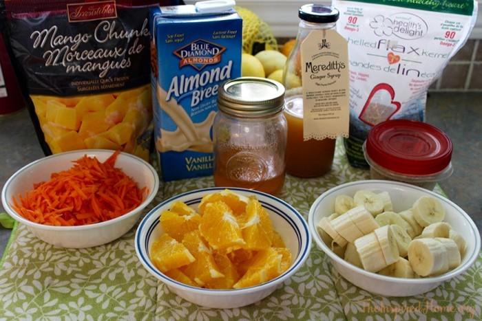 sunshine breakfast smoothie ingredients