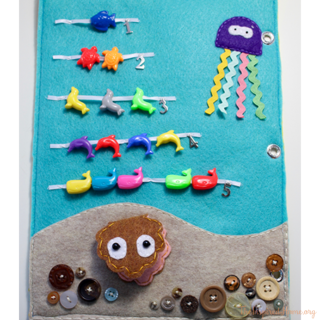 Quiet Book Ideas: Under the Sea Counting