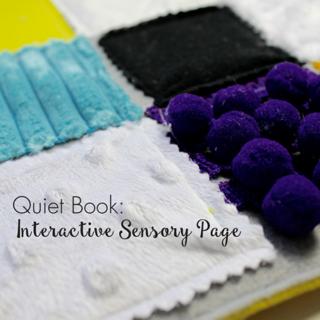 Quiet Book: Interactive Sensory Page
