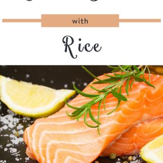 Cilantro Salmon with Rice
