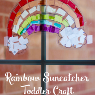 Rainbow Suncatcher Toddler Craft