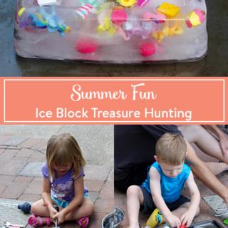 Summer Fun: Ice Block Treasure Hunting
