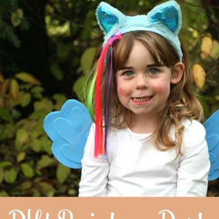 Rainbow Dash Costume with DIY Wings