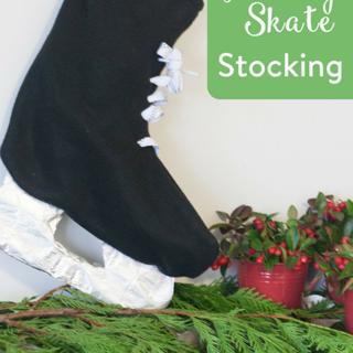 DIY Hockey Skate Stocking