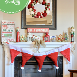 DIY Santa Hat Bunting