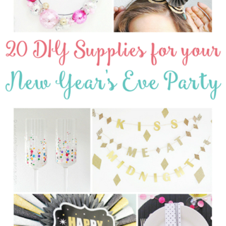 New Years Eve DIY Party Supplies