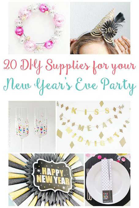 TheInspiredHome.org // 20 Ways to DIY your New Years Eve DIY Party Supplies. Ready for New Year's Eve but not ready to leave the house? Break into your craft stash and make these 20 great projects.