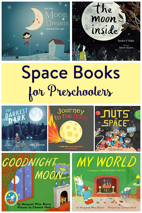 TheInspiredHome.org // Space Books for Preschoolers - a collection of 7 of our favourite picture books about the moon and space.