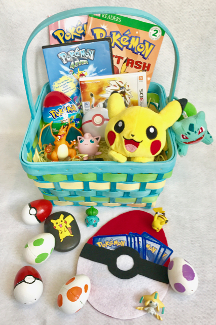 TheInspiredHome.org // Pokemon Go No-Candy Easter Basket // Fill their basket with these simple DIY Pokemon Go Easter eggs including a felt, no-sew version, and a no-candy Pokemon Go Easter Basket.
