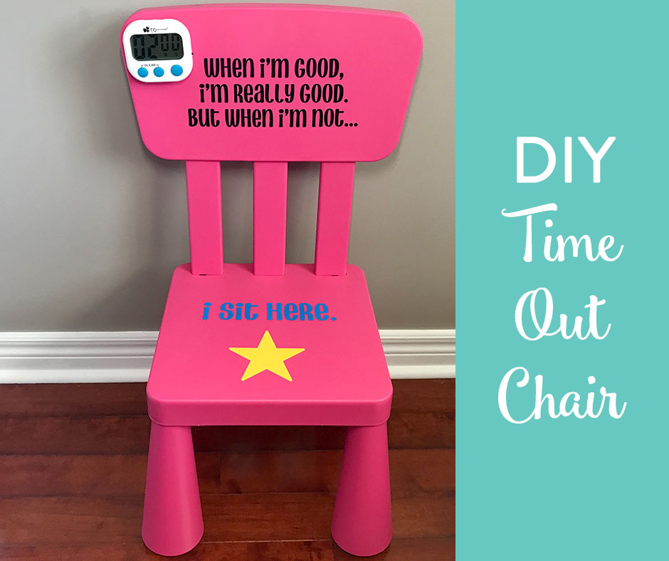 TheInspiredHome.org // Using your Cricut Explore Air and some vinyl you can : time out chairs with timer - Cheerinfomania.Com