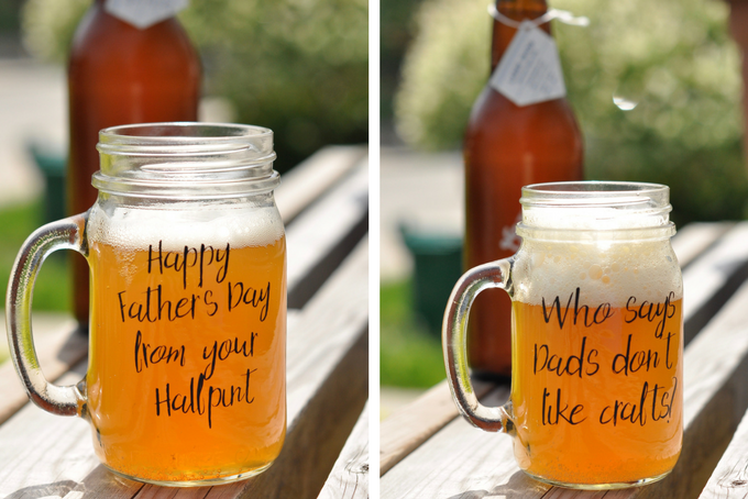 TheInspiredHome.org // Custom DIY Craft Beer Mugs set of 4