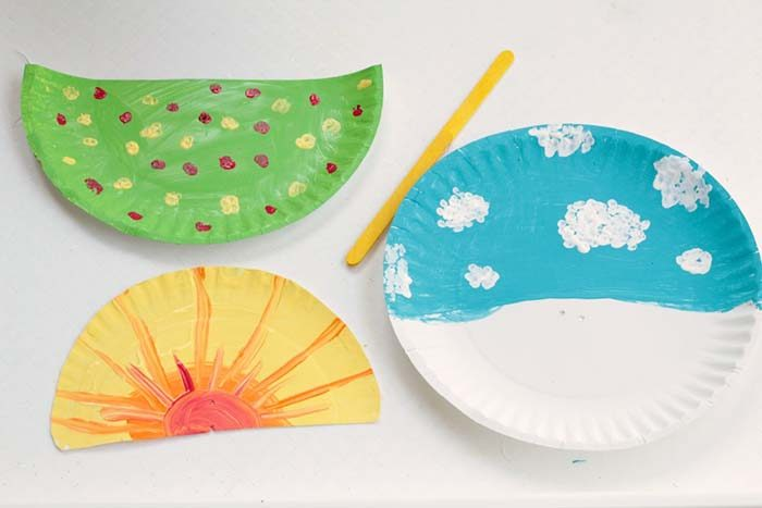 How to Make the Paper Plate Sun Craft  sc 1 st  The Inspired Home & Paper Plate Sun Craft u2022 The Inspired Home