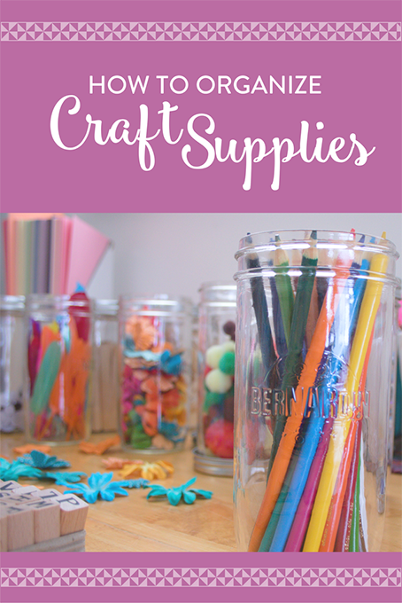 TheInspiredHome.org // How To Organize Craft Supplies
